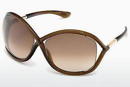 Sonnenbrille Tom Ford Whitney (FT0009 692) - Braun, Dark, Shiny