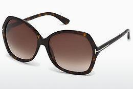 Sonnenbrille Tom Ford Carola (FT0328 52F) - Braun, Dark, Havana