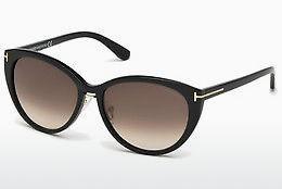 Tom Ford Damen Sonnenbrille »Riley FT0298«, schwarz, 01B - schwarz/grau