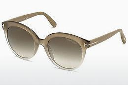 Sonnenbrille Tom Ford Monica (FT0429 59B) - Horn, Beige, Brown
