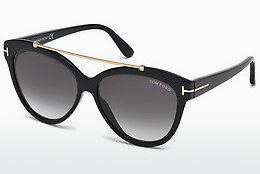 Sonnenbrille Tom Ford Livia (FT0518 01B) - Schwarz, Shiny