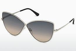 Sonnenbrille Tom Ford FT0569 16B - Silber, Shiny, Grey