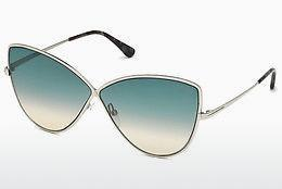 Sonnenbrille Tom Ford FT0569 16W - Silber, Shiny, Grey