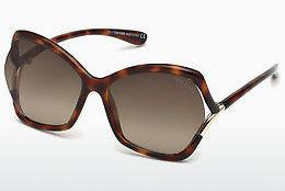Sonnenbrille Tom Ford FT0579 53K - Gelb, Braun, Havanna