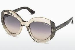 Sonnenbrille Tom Ford FT0581 59B - Horn, Beige, Brown