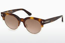 Sonnenbrille Tom Ford FT0598 53G - Gelb, Braun, Havanna