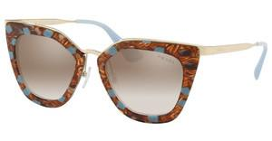 Prada PR 53SS KJO4O0 GRADIENT BROWN MIRROR SILVERSTRIPED BROWN/AZURE