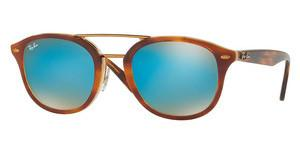 Ray-Ban RB2183 1128B7 BROWN GRADIENT MIRROR BLUETOP HAVANA BROWN/HONEY