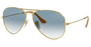 Ray-Ban RB3025 001/3F CRYSTAL GRADIENT LIGHT BLUEGOLD