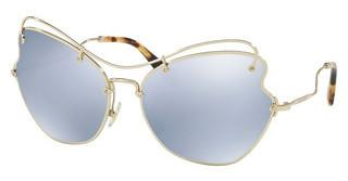 Miu Miu MU 56RS ZVN5Q0 BLUE MIRROR WHITEPALE GOLD