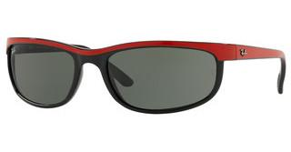 Ray-Ban RB2027 6300 GREENTOP RED ON BLACK