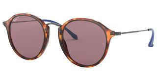 Ray-Ban RB2447 1245W0 VIOLET POLARRED HAVANA