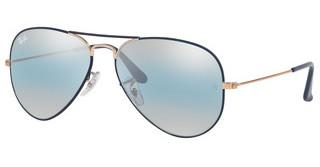 Ray-Ban RB3025 9156AJ BLUE BI-MIRROR GREYCOPPER ON MATTE DARK BLUE