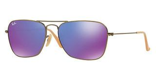 Ray-Ban RB3136 167/1M GREY MIRROR PURPLEBRUSHED BRONZE DEMI SHINY