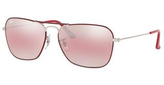 Ray-Ban RB3136 9155AI PURPLE BI-MIRROR GREY-PHOTOSILVER ON TOP MATTE BORD