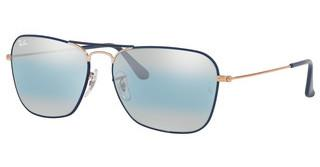 Ray-Ban RB3136 9156AJ BLUE BI-MIRROR GREYCOPPER ON TOP MT DK BLUE