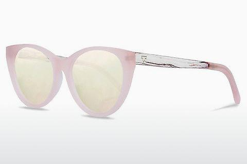 Sonnenbrille Kerbholz Martha Peach White Birch