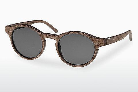 Sonnenbrille Wood Fellas Flaucher (10754 black oak/grey)