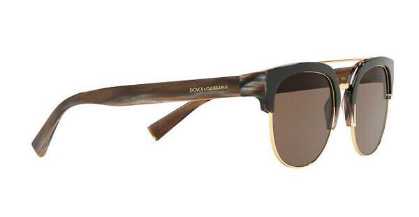 DOLCE & GABBANA Dolce & Gabbana Herren Sonnenbrille » DG4317«, braun, 315873 - braun/braun
