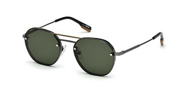 Ermenegildo Zegna Herren Sonnenbrille » EZ0105«, schwarz, 08N - schwarz/grün