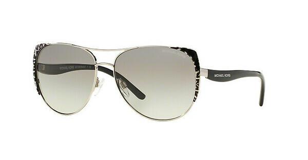 MICHAEL KORS Michael Kors Damen Sonnenbrille »SADIE I MK1005«, schwarz, 105911 - schwarz/grau