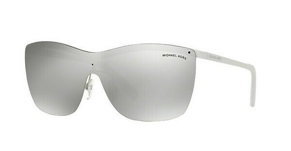 MICHAEL KORS Michael Kors Damen Sonnenbrille »PAPHOS MK5005«, weiß, 11236G - weiß/silber
