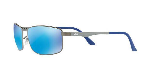 RAY BAN RAY-BAN Herren Sonnenbrille » RB3498«, grau, 029/9R - grau/blau