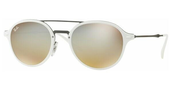 RAY BAN RAY-BAN Sonnenbrille » RB4287«, weiß, 671/B8 - weiß/braun