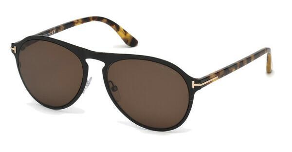 Tom Ford Herren Sonnenbrille »Bradburry FT0525«, schwarz, 01E - schwarz/braun
