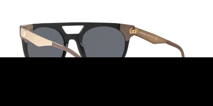 Versace Herren Sonnenbrille » VE4339«, schwarz, 524887 - schwarz/grau